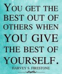 Give of yourself...